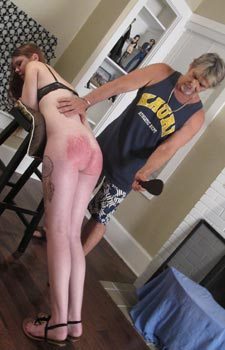 Spanked Naked Women