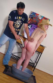 Naked Cowgirls Spanking