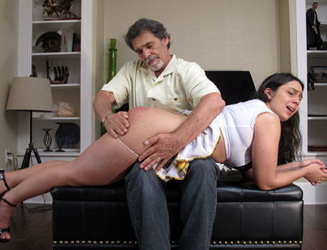 Lilly Hall Spanking