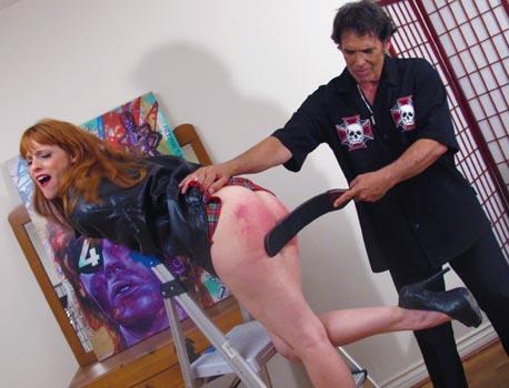 Girl girl getting spanked hard cummings
